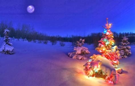 Background Christmas Scenes Wallpaper