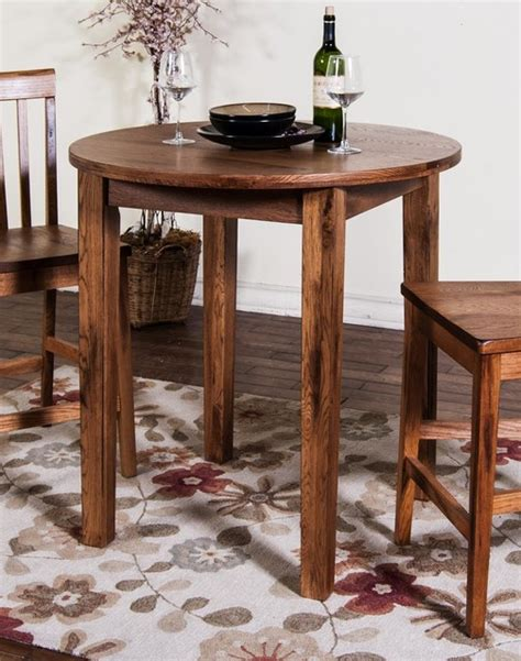 rustic oak round dining table sunny designs sedona 36 quot round pub table 42 quot in rustic