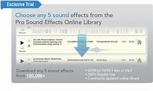 Pro Sound Effects Offers 5 Sound FX Free, Exclusive to ...