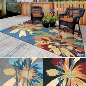 rug squared melbourne floral indoor outdoor area rug 5 x