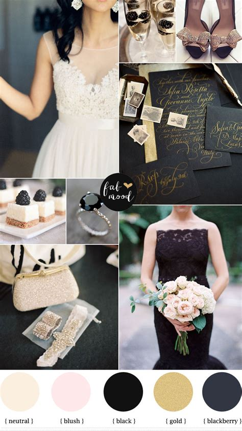 blackberry gold and white wedding gold white and black wedding theme