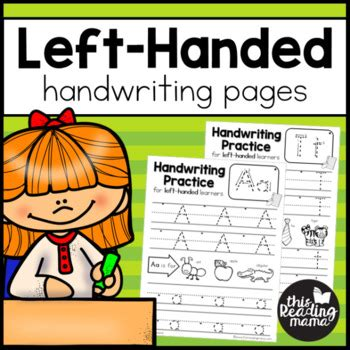 left handed handwriting pages   reading mama tpt
