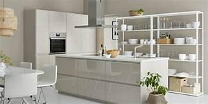 Arbeitsplatte Küche Ikea : k che mit freistehendem k chenblock bilder ideen zur ~ Michelbontemps.com Haus und Dekorationen