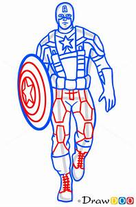 Anime Henna Designs How To Draw Captain America Superheroes