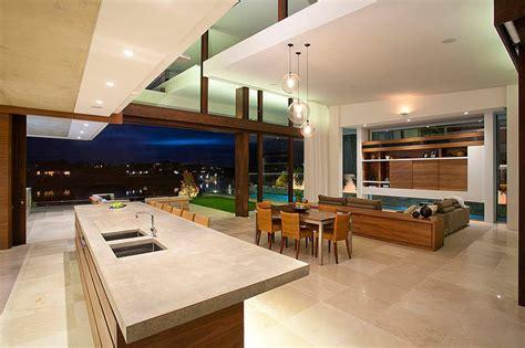 comptoir ilot cuisine maison moderne australienne pour une famille moderne