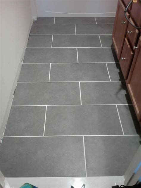 Mitte Gray Tile Grout Color staggered placement mitte gray 12 quot x 24 quot tile from lowes