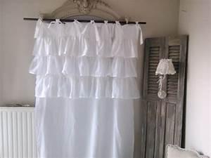 Rideaux Style Romantique : rideau froufrou shabby romantique mh cr ations ~ Melissatoandfro.com Idées de Décoration