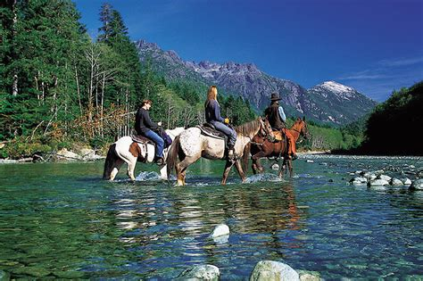 vancouver island riding horseback columbia british valley coast bedwell river west wilderness resort islands tofino clayoquot bc gulf play landscape