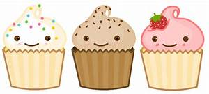 Vanilla Cupcake clipart cartoon - Pencil and in color ...