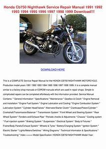 Honda Cb750 Nighthawk Service Repair Manual 1 By Diedra Baltrip