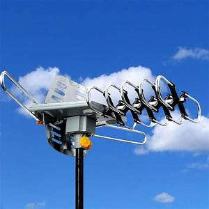 Hdtv Outdoor Amplified Antenna Hd Tv 36db Rotor Remote 360