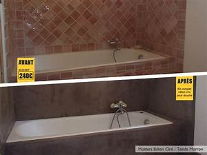 Carrelage Avant Ou Apres Receveur : b ton cir un avant apr s impressionnant dans une salle de bains ~ Nature-et-papiers.com Idées de Décoration