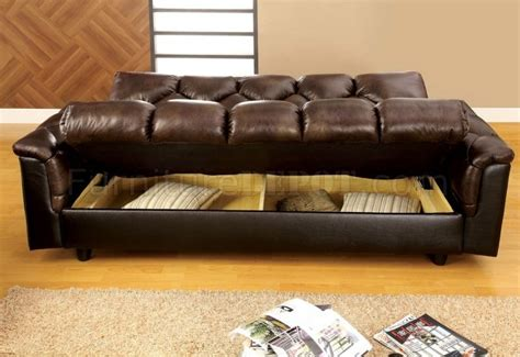 home depot sofa cama cm2120 bowie sofa bed in dark brown leather like fabric