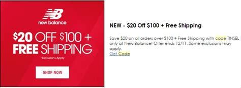 ls plus free shipping code 40 off new balance coupon code save 20 in dec w promo