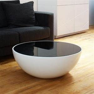Table Basse Noire Ronde : table basse ronde style et l gance dans salon 30 id es ~ Teatrodelosmanantiales.com Idées de Décoration