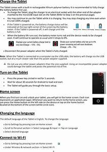 Simbans Tango 10 1 Inch Android Tablet User Manual