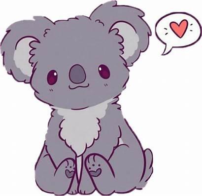 Kawaii Drawings Easy Clipart Koalas Transparent Clip