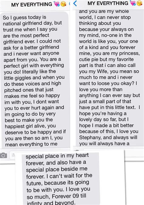 cute text message  girlfriend  national girlfriend day