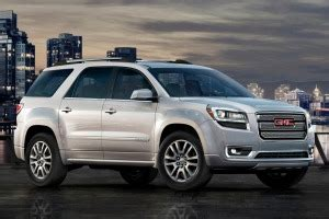 gmc acadia suv pricing features edmunds