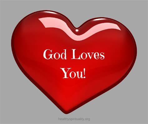 God Loves You Heart with Cross Images
