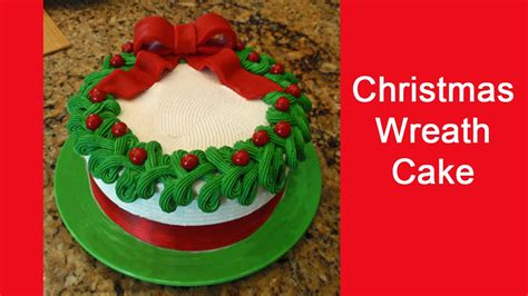 easy to decorate christmas wreath cake youtube