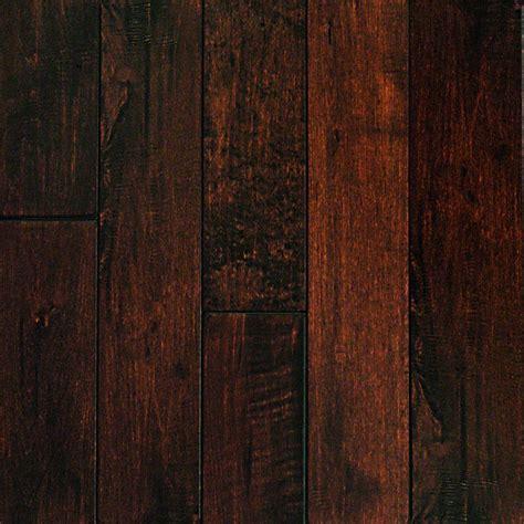 scraped maple flooring millstead hand scraped maple chocolate 1 2 in thick x 3 in wide x random length engineered