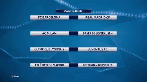 uefa champions league quarter finals  drawing hd