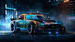 Mercedes, Colorful, 4k, Customize, Car
