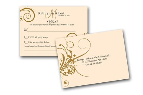 Rsvp Cards To Match Wedding Invitations A By Gwenmariedesigns