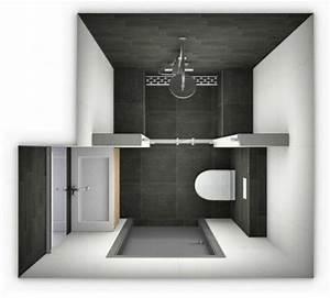 Salle De Bain Petite Surface : id e d coration salle de bain plan salle de bain 3m2 ~ Dailycaller-alerts.com Idées de Décoration