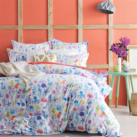 ocean themed bedding blue and yellow sea floating house