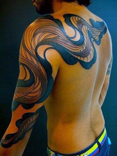 tattoos  men  dimensional illusion ink