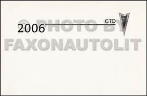 2006 Pontiac Gto Repair Shop Manual Original 2 Volume Set