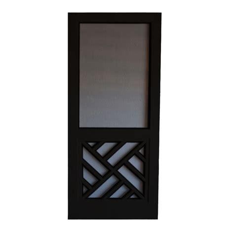 screen doors lowes shop screen tight chippendale wood screen door common 32
