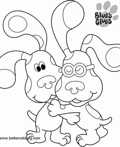 Clues Coloring Blues Pages Printable Hug Jr