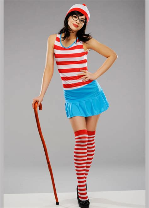 Ladies Sexy Wheres Wally Costume | eBay