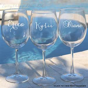 Wedding gift custom wine glass anniversary gift christmas for Personalized wine gifts wedding