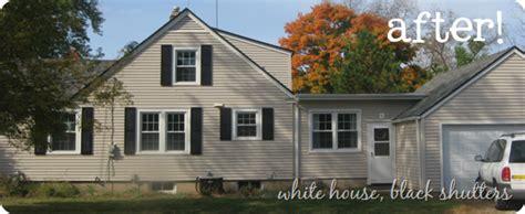 shutter love white house black shutters