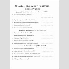 Advanced Winston Grammar Student Pack (004689) Details  Rainbow Resource Center, Inc
