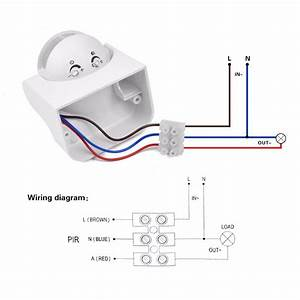 Diy Pir Infrared Motion Sensor Switch Smart Security Led Light Movement Induction Detector 180