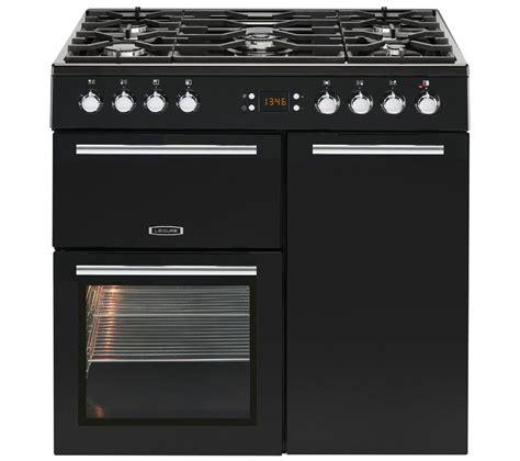 stoves dual fuel range cooker buy leisure al90f230k dual fuel range cooker black free delivery currys