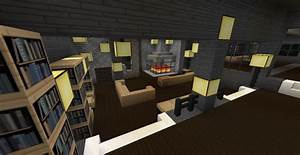 Modern Minecraft Mansion Living Room By TheFawksyArtist On ...