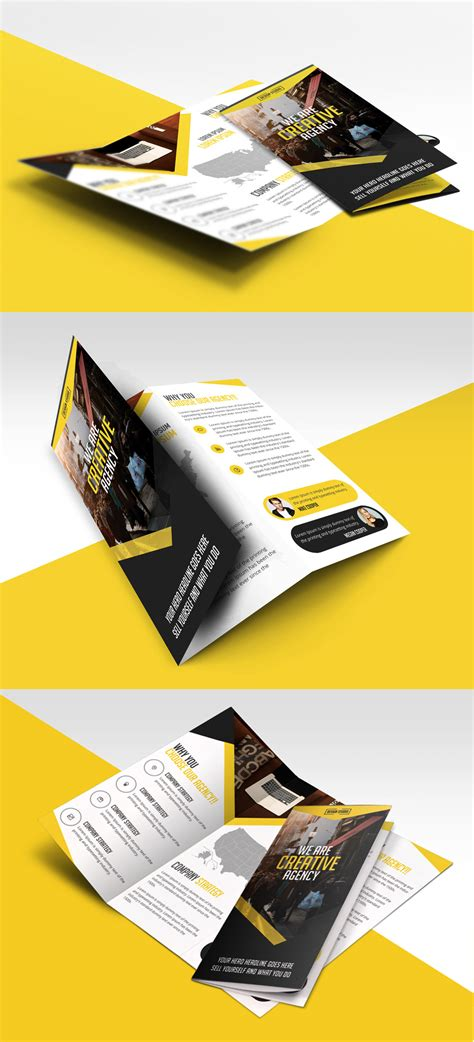 trifold template file multipurpose trifold business brochure free psd template