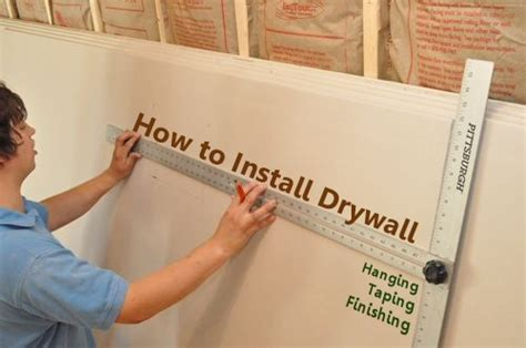 Hanging Drywall On Ceiling Tips by How To Install Drywall With 75 Pics Hanging Taping