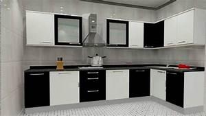 L Shaped Modular Kitchen Kosmic Furniture