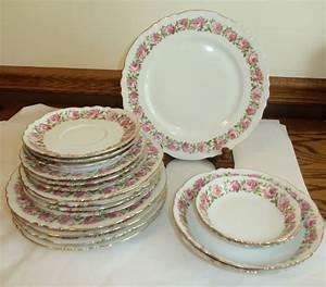 Antique Limoges Depose France Charles Ahrenfeldt Pink Roses Plate Set Very Rare