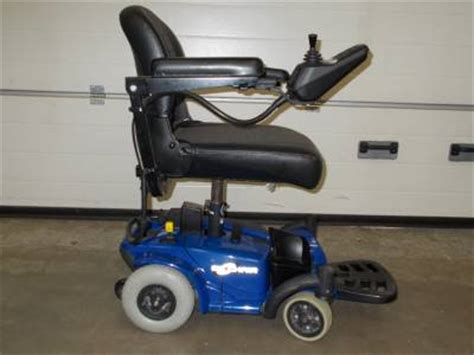 small indoor power electric wheelchair go chair blue