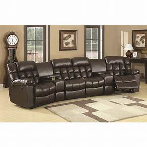 Coaster furniture 600004c natalie modern home theater seating for Coaster furniture home theater seating