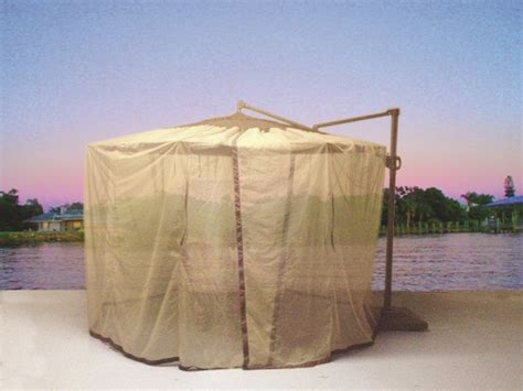 Offset Patio Umbrella Mosquito Net by Shade Trends C Net Beige Cantilever Mosquito Net Fits 10