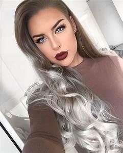 Grau Silber Haare : lupe ombre grau haar farben neue frisur stil ~ Frokenaadalensverden.com Haus und Dekorationen